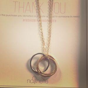Nashelle Triple Ring Ija Necklace